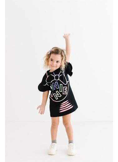 Minnie Mouse Lisanslı Çocuk Elbise 17363 Siyah